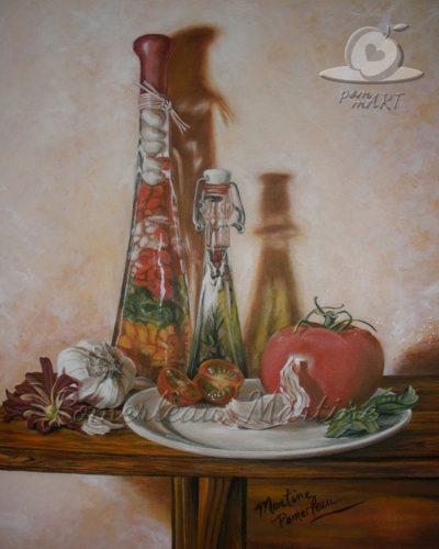 peinture à l'huile de Martine Pomerleau
