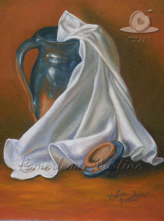 peinture pot de gré avec tissu Pot-ésie par PommArt