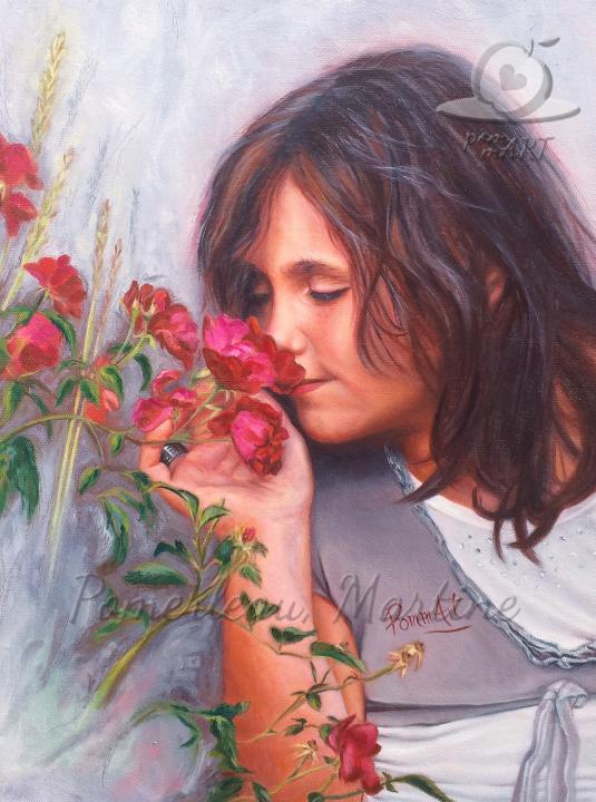 Peinture oeuvre Les Roses de Mamie par PommArt
