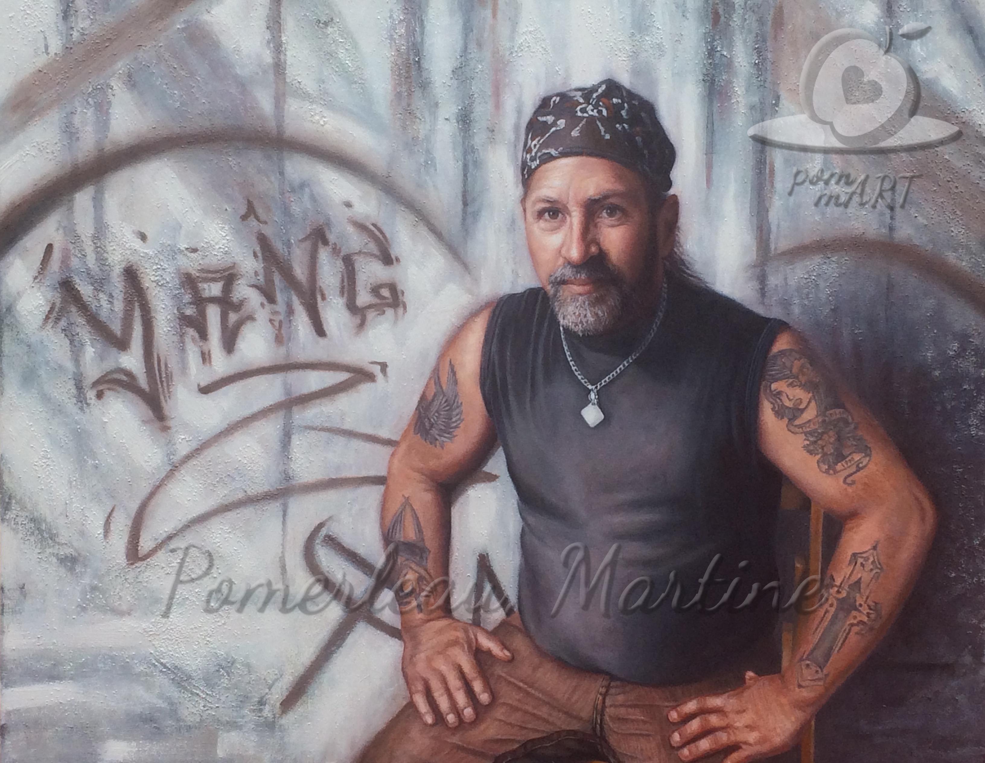 oeuvre peinture portrait Christian ti-cul par PommArt