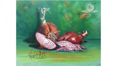 oeuvre peinture ce n'est pas tes oignons par PommArt