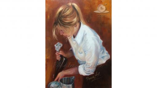 Oeuvre peinture La pâtissière par PommArt