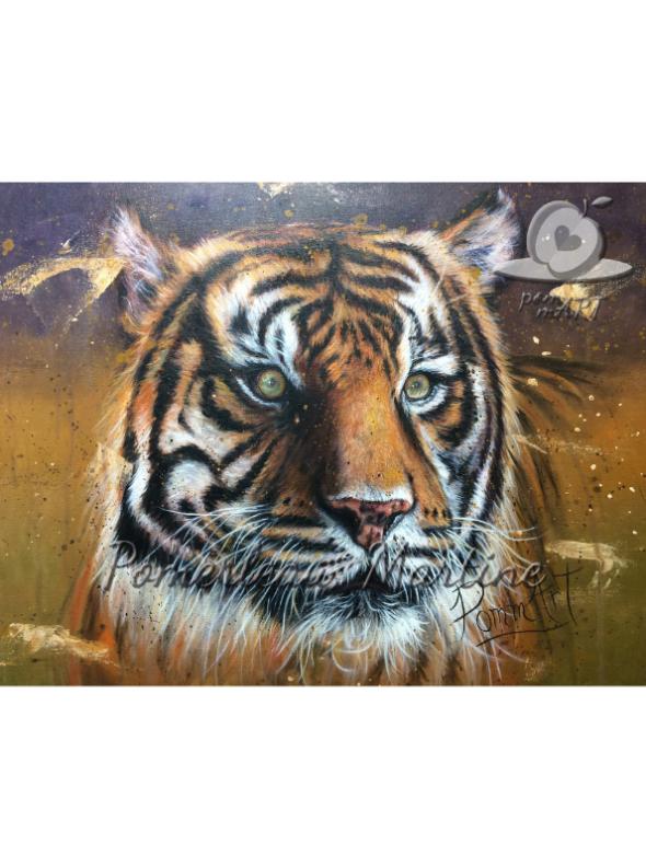 oeuvre animaux tigre le royal par PommArt