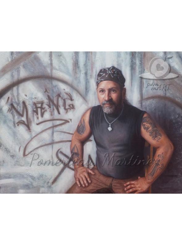 oeuvre portrait de Christian Ti-cul par pommart